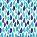 Raindrops Fabric by littlearrowdesigncompany
