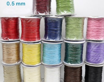 0.5mm Wax Rope Bracelet Rope Wax Cord Mutipul Colors Black Color Brown Color TSC017