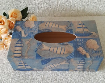 rectangle wooden tissue box cover