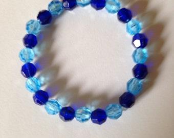 Blue Beaded Bracelet.