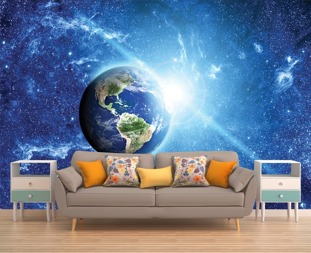 Space Wall Mural Outer Space Wall Mural Galaxy Wallpaper