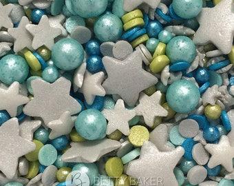 Twinkle Sprinkle Cake Decoration Edible Marker : Blue edible confetti Etsy
