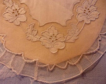beautiful old embroidered bib