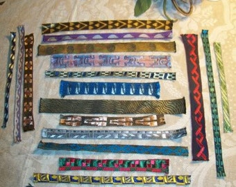 A small batch of pieces of old, soft stripes