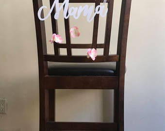 Mama to be chair sign
