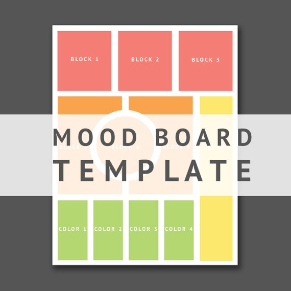 mood board template for brand designers photoshop template