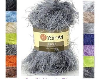 Jungle YARN ART -  100% Polyester yarn- 50g 60m (65,6  yards) turkish yarn