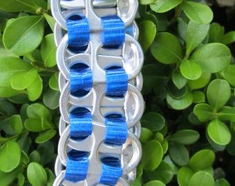 Blue Pop Tab Bracelet