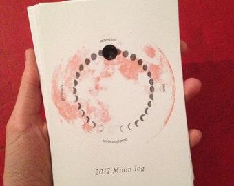2017 Moon Log Calendar A6 size