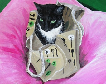 Example Pet Portrait - Circe the Cat