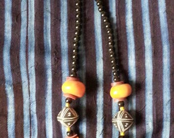 African Beads African Amber Clay beads Necklace