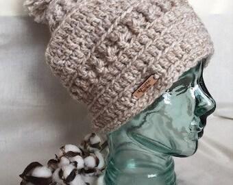 Slouchy Beanie - slouchy hat - pom pom beanie - winter beanie - women's  beanie - crochet hat - crochet beanie - crochet slouchy hat