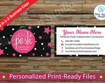 Perfectly Posh Business Cards Printable Digital Printed Personalized Custom Customized Consultant Cards PER-BC101