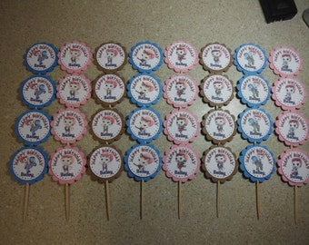 32 Sheriff Callie Cupcake Toppers PERSONALIZED - Picks Party Favors