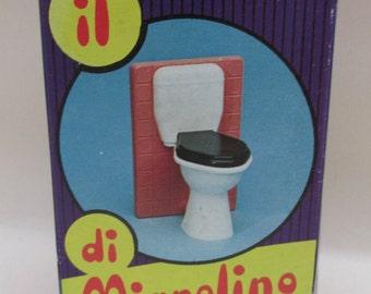 Vintage Plastic Boxed Matchbox Dolls Toilet - il di Mignolino - Dolls Toilet