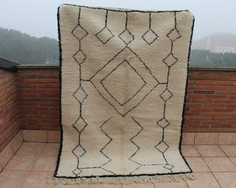 Carpet Beni Ouarain 212x152cm. Carpet Berber Beni Ouarain. Berber rug Beniouarain.