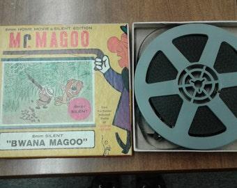 Mr. Magoo Bwana 8mm Vintage Home Movie Silent Film