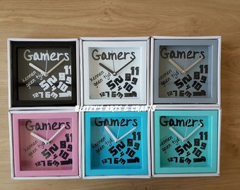 Gamers know no time-clock 12 cm