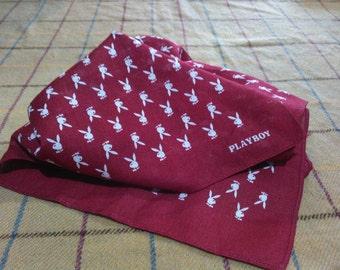 Vintage Playboy Handkerchief Vintage Playboy Handkerchief