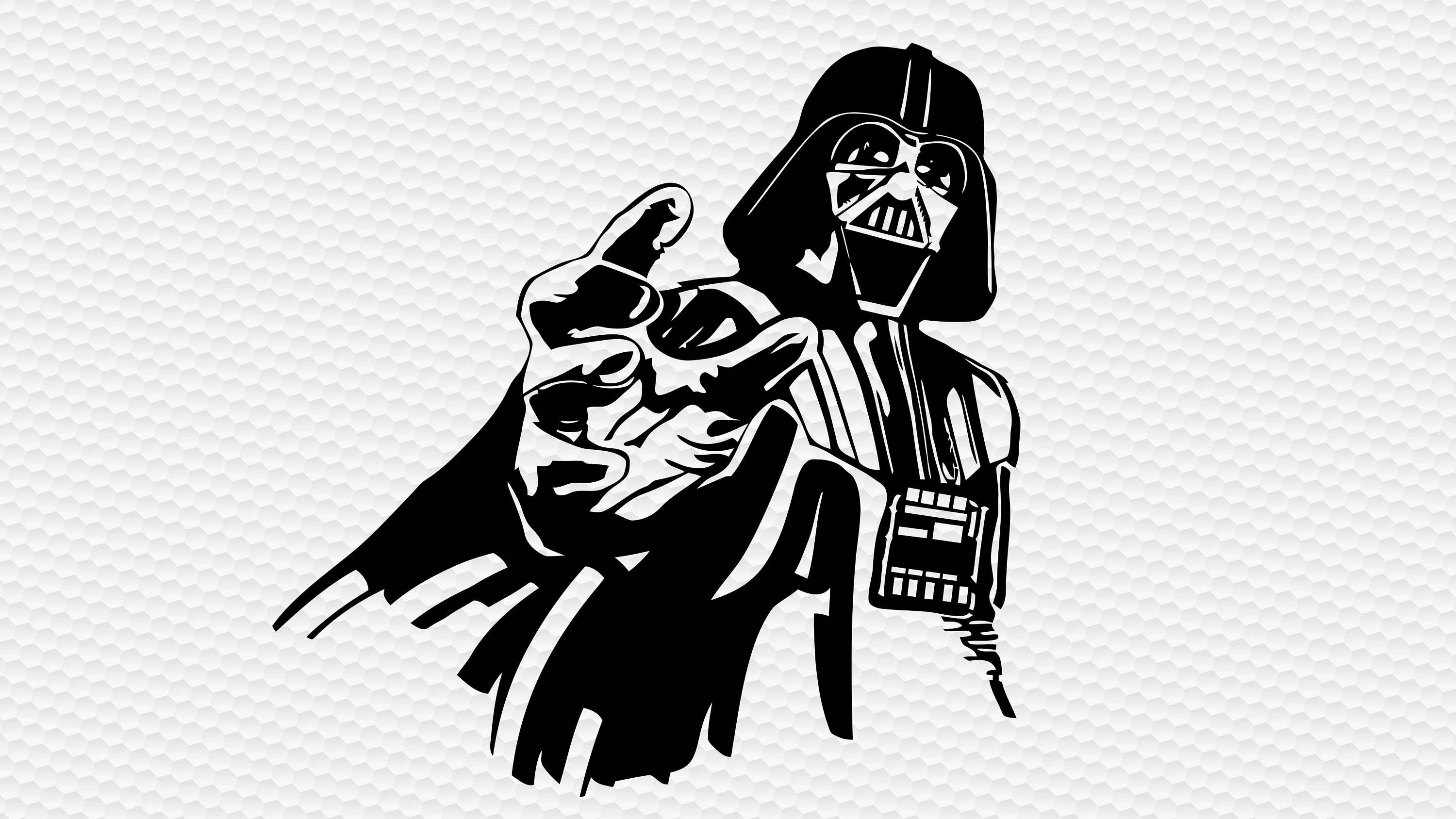 Darth vader svg digital file svg clipart cut files silhouette for Darth vader black and white