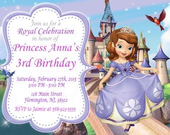 Sofia the First Invitation Birthday Party