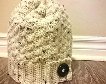 Tweed Yarn knit cap