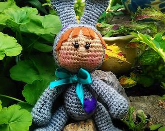 Girl doll rabbit  Amigurumi