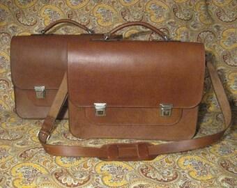 Men's leather briefcase handmade