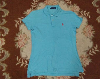 vintage RALPH LAUREN skinny polo small pony for womens size M