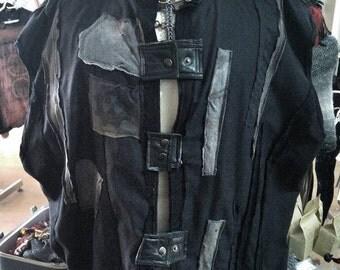 Post Apocalyptic Fallout Tourtured Raider Vest Mens XXXL