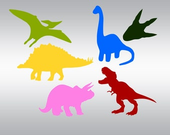Dinosaurs and paw dinosaur SVG Clipart Cut Files Silhouette Cameo Svg for Cricut and Vinyl File cutting Digital cuts file DXF Png Pdf Eps