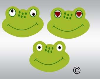 Frog face head crazy boy girl SVG Clipart Cut Files Silhouette Cameo Svg for Cricut and Vinyl File cutting Digital cuts file DXF Png Pdf Eps