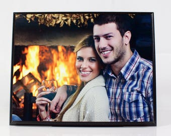 Romantic Gift for Him, Her, Girlfriend, Boyfriend, Husband, Wife: Sublimated Custom Photo/Text MDF Wood Plaque