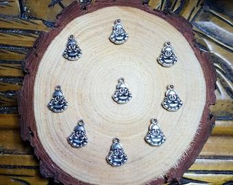 Silver Buddha Charms