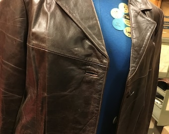 Brand new leather jacket. 100% genuine brown leather jacket