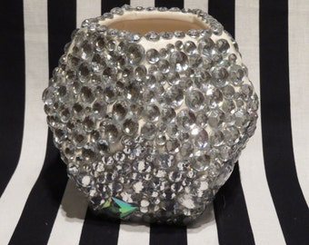 SALE // FREE SHIPPING - Jeweled Geometric Planter/Pencil Cup
