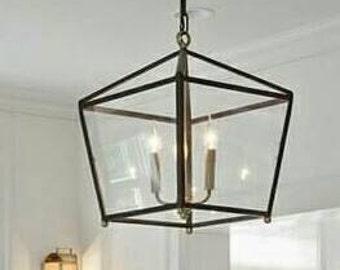 Custom Designer Hanging Candle Lantern Designer Handcrafted Lighting Kitchen Lighting Island Lighting