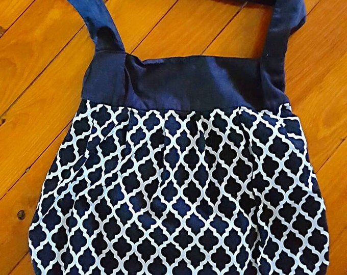 Gift for Her - Hobo Bag - Large Purse - Slouch Bag - Large Tote - Black and White - Over the Shoulder - Diaper Bag -Gym bag - Pleated Purse