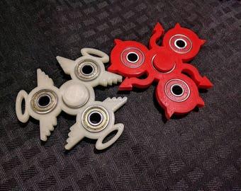 Conscience Combo Fidget Spinner 2-pack - Angel and Devil - Custom Color - Focus Enhancer Stress Reducer