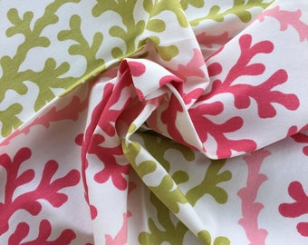 Cotton Home Decor Fabric B Berger Designer Fabric Bermuda Pink Tropical Fabric