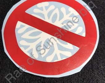 No Snowflakes Car Decal , vinyl car decal ,  republican car decal , vinyl window decal