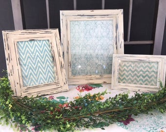 Shabby Chic Picture Frame, Distressed Picture Frame, Picture Frame Set, Cottage Style Picture Frame, Farmhouse Picture Frame