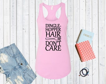 Dinglehopper Hair Don't Care. Disneyland Tank Top. Disneyworld Tank. Family Disney Shirts.  Cute Disney Tanks [E0271,E0310]