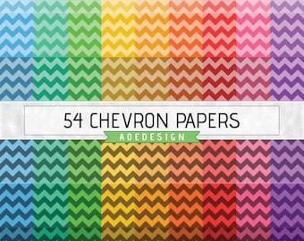 CHEVRON digital paper, printable chevron background, digital chevron backdrop, digital zig zag pattern, chevron scrapbook paper pack