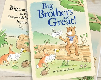 Personalised Big Brothers are Great Paperback Story Book
