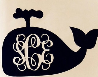 Free Shipping Whale Monogram