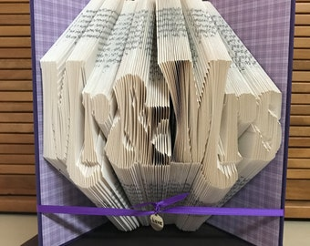 Mr & Mrs Book Folding Pattern, Wedding Origami Present Idea, Valentine's Day Gift, Folded Books Pattern, Mr. and Mrs. Book Fold Pattern Sale