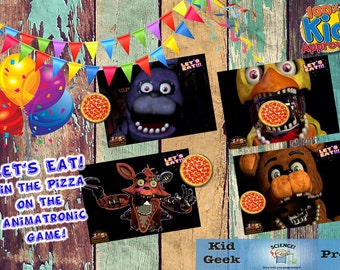 Five Nights at Freddy's FNAF Let's Eat Pizza Party Game!