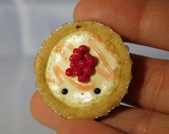 Kawaii Cherry Cheesecake Bottlecap Charm