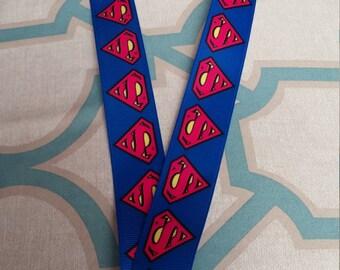 Superman logo lanyard